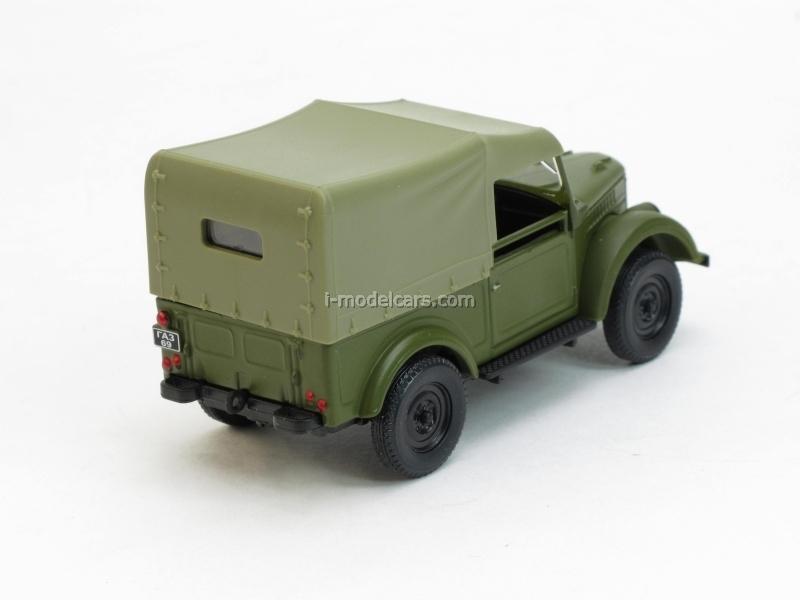 GAZ-69 with awning khaki 1:43 Nash Avtoprom
