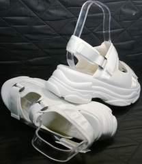 Женские сандали на толстой подошве Small Swan PM23-3 White.