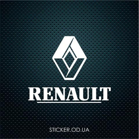 Наклейка на авто Renault