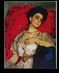 """Репродукция """"Серов - Портрет Марии Акимовой. 1908"""""""