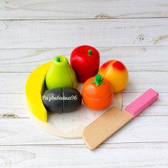 Деревянные фрукты на магнитах
