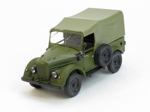 GAZ-69 with awning khaki 1:43 Nash Avtoprom