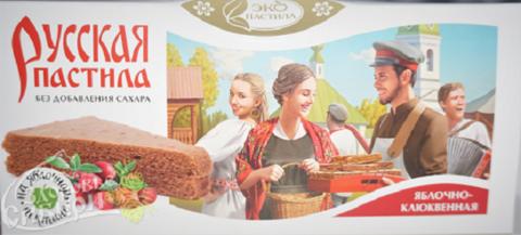 Пастила русская Яблочно-клюквенная без сахара Смоква, 45 г