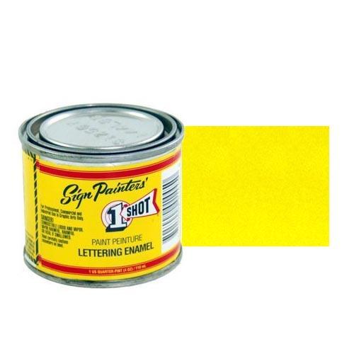 930-P Эмаль для пинстрайпинга 1 Shot Голубой Перламутровый желтый (Primrose Yellow), 236 мл