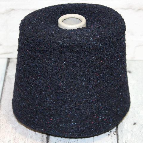 Твидовое букле с мериносом и шелком FIL-3 REMY 500 темно-синий