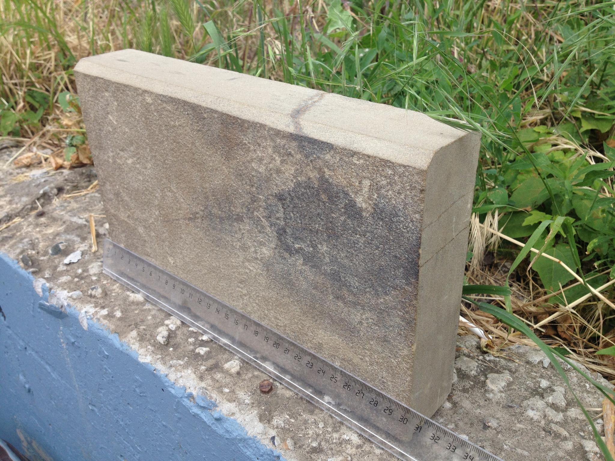 Бортовой камень пиленный Серый образец