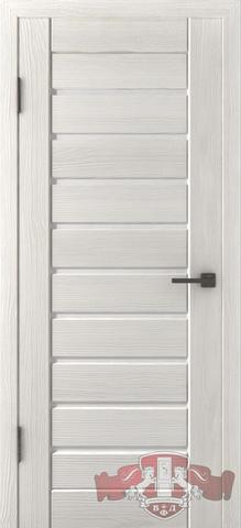 Дверь Л3ПГ5 стекло белое (беленый дуб, остекленная экошпон), фабрика Владимирская фабрика дверей