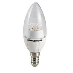 Лампа светодиодная 14SMD CR E14 4W 3300K свеча прозрачная 4690389054570