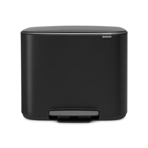 Мусорный бак Bo  (3 x 11 л), Черный матовый, арт. 121104 - фото 1