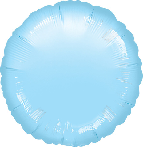 Шар-круг Нежно голубой