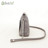 Сумка Саломея 124 серый металлик