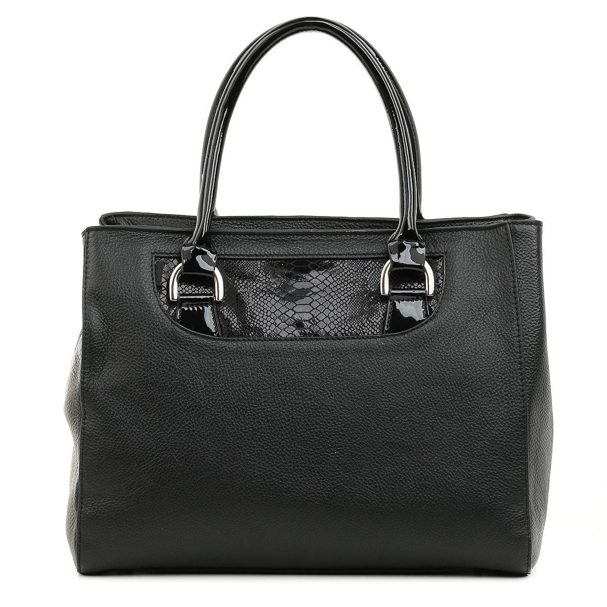 3015 FD кожа /питон/лак черный (сумка женская)