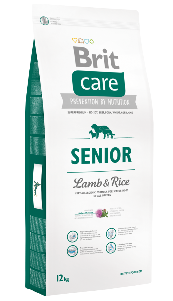 Brit Корм для пожилых собак, Brit Care Senior All Breed, с ягненком и рисом Brit-Care-Senior-Lamb-and-Rice-12kg.png