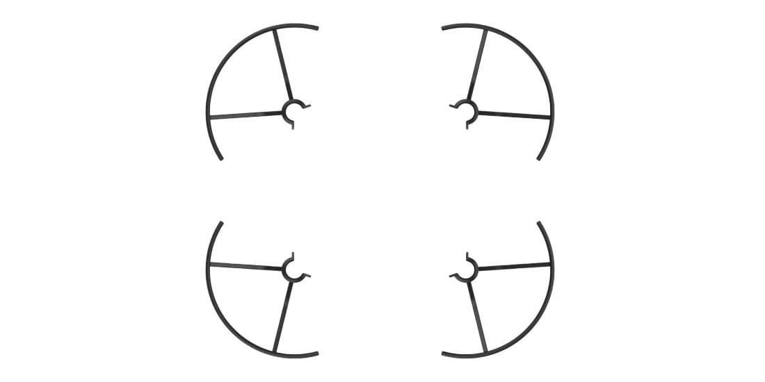 Защита пропеллеров DJI Propeller Guards for Tello (Part3) вид сверху
