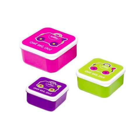 Ланч бокс Trunki розовый, фиолетовый, зеленый
