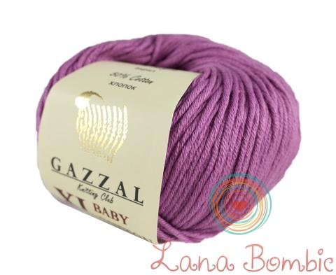 Пряжа Gazzal Baby Cotton XL светло-фиолетовый 3414