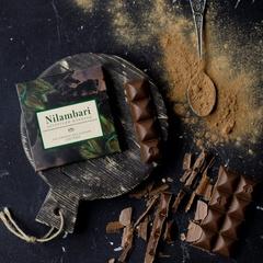 Шоколад Nilambari на кэробе с фундуком и изюмом, 65 г
