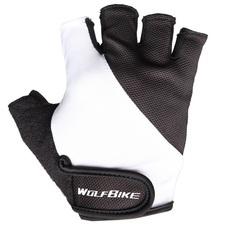 Велосипедные перчатки Wolfbike короткие (черные)