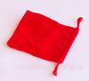 Анальная пробка со стразой красная - d. 2,7 см. (цвета в ассортименте)
