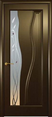 Дверь Океан Гольфстрим new, стекло белое, цвет венге, остекленная