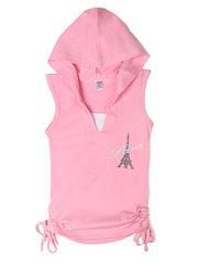 1022-1 футболка детская, розовая