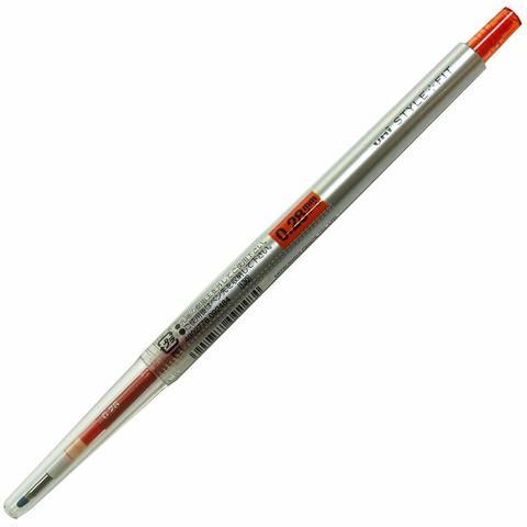 Гелевая ручка 0,28 мм Uni Style Fit - Red Orange - красно-оранжевые чернила