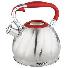 Чайник со свистком 3,0л Webber ВЕ-0544 сатин