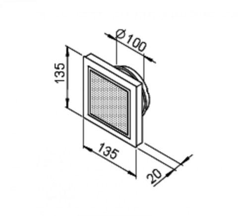 Дизайнерский анемостат Helios DLVZ 100 приточный, регулируемый, с фильтром