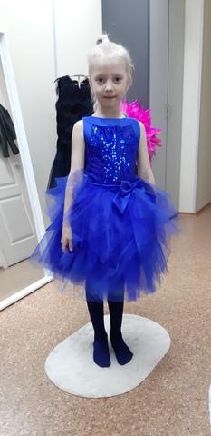 Нарядное платье (арт.304 син)