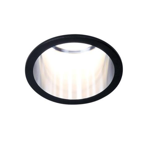 Встраиваемый светильник Ambrella TN212 BK/CH черный/хром  GU5.3