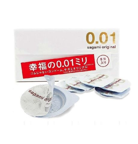 Супер тонкие презервативы Sagami Original 0.01 - 5 шт.