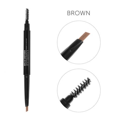 Механический карандаш для бровей со щеточкой Brow Definer(коричневый)