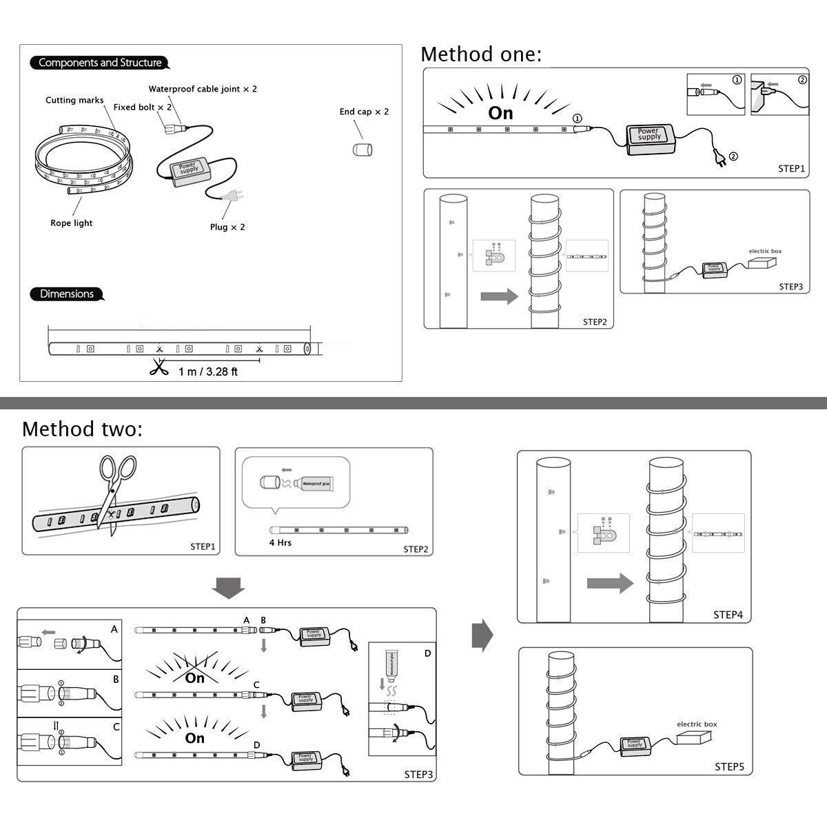 Схемы дюралайт светодиодные