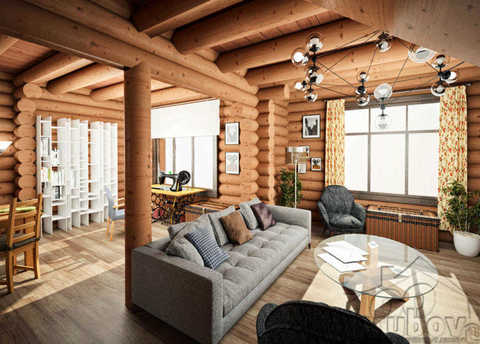 визуализация дома по проекту 633 в Жилино 8х10