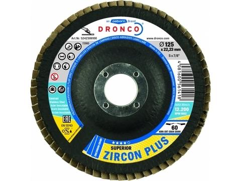 Лепестковые шлифовальные диски  Superior Zircon Plus 60 Bomb 125x22,23mm