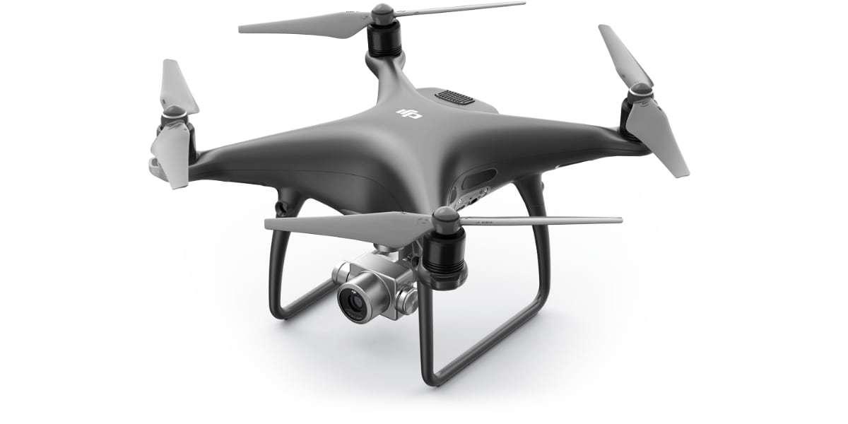 Набор пропеллеров DJI 9450S чёрные Quick-release Propellers (1CW+1CCW) for Phantom 4 Obsidian editio на дроне