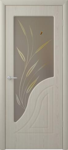 Дверь Фрегат Флоренция, художественное с фьюзингом, цвет беленый дуб, остекленная