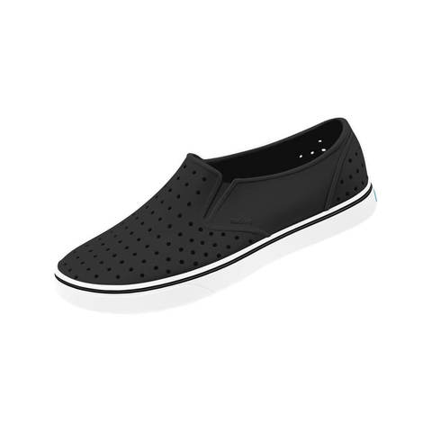 Кеды Native Miles Jiffy Black / Shell White черные