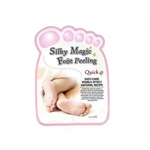Носочки Для Пилинга с Экстрактом Тропических Фруктов CALMIA SILKY Magic Foot Peeling