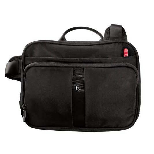 Сумка Victorinox Travel Companion, с системой защиты RFID, чёрная, 27x8x21 см, 4 л
