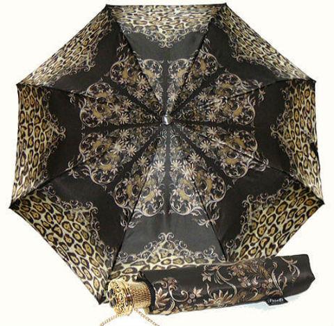 Зонт женский складной Pasotti Leopardo Cioccolato
