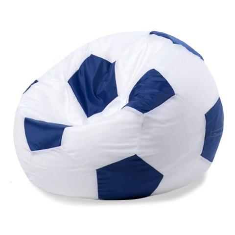 Кресло-мешок «Мяч» Бело-синий