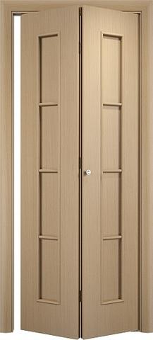 Дверь складная Верда С-14 (2 полотна), цвет беленый дуб, глухая