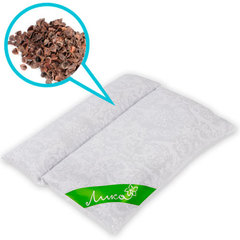 Подушка-валик Чистый сон из гречихи, 45 х 50 см (из гречневой лузги)