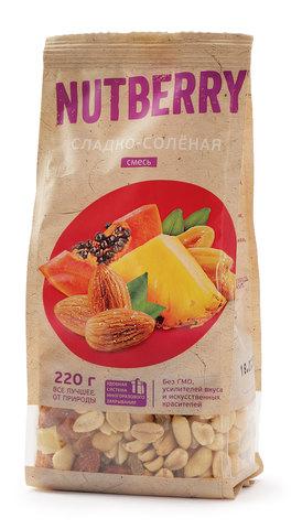 NUTBERRY Смесь сладко-соленая 220 г