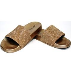 Сланцы женские J.B.P. Shoes NU25 Gold.
