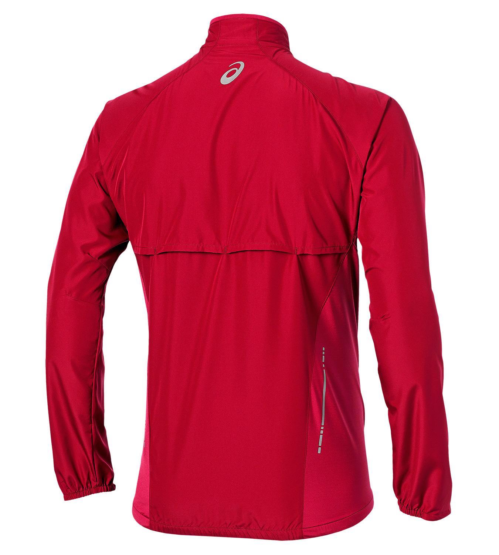 Мужская беговая куртка ветровка Asics Woven Jacket (110411 6015) красная фото