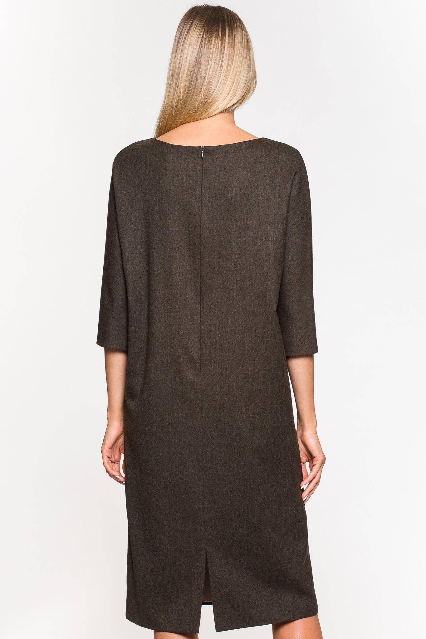 Платье прямого силуэта из шерсти
