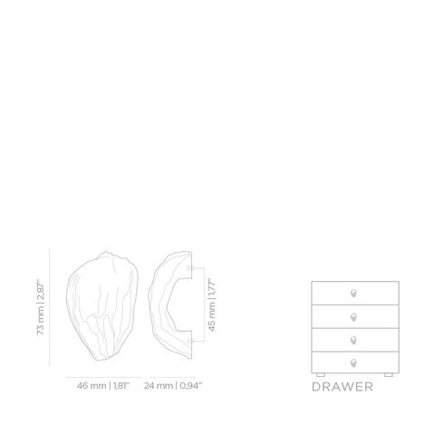 Мебельная ручка PullCast NILE EA1030