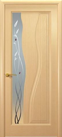 Дверь Океан Гольфстрим new, стекло белое, цвет беленый дуб, остекленная
